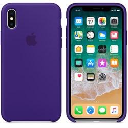 Оригинальный силиконовый чехол-накладка Apple для iPhone X, цвет «Ультрафиолет»  (MQT72ZM/A) - фото 22920
