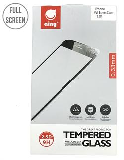 """Защитное стекло Ainy Full Screen Cover 0.2 мм для iPhone 7 Plus (Без скругления, цвет """"черный"""") - фото 23306"""