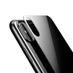"""Заднее защитное закаленное стекло для Apple iPhone X, цвет """"черный"""" - фото 23346"""
