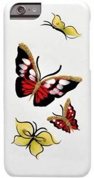 "Чехол-накладка iCover для iPhone 6/6s HP Butterfly Ruby, дизайн бабочки, цвет ""белый (IP6/4.7-HP/W-RB) - фото 23498"