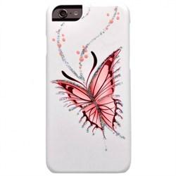 """Чехол-накладка iCover iPhone 6/6s HP Happy Butterfly, дизайн бабочки, цвет """"белый"""" (IP6/4.7-HP/W-HB) - фото 23504"""