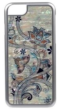 "Чехол-накладка iCover iPhone 6/6s Plus Mother of Pearl, дизайн ""цветы"" (IP6/5.5-MP-BK/PA07) - фото 23547"