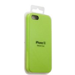 Чехол-накладка  силиконовый для iPhone 5/5s/SE цвет «Зеленый» (MKX32FE) - фото 23848