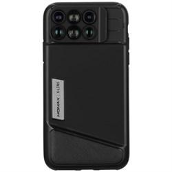 Чехол с обьективами Momax 6 в 1 Lens Case для iPhone X (Цвет: Черный) - фото 24138
