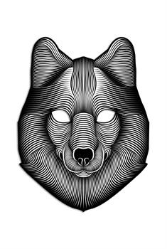 Крутая светодиодная маска с датчиком звука GeekMask Shadow Wolf  (GM-WLF) - фото 24190