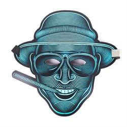 """Крутая светодиодная маска с датчиком звука GeekMask """"Vegas"""" (GM-VEGAS) - фото 24192"""