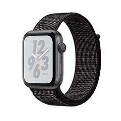 """Apple Watch Series 4 Nike+ 40mm """"Чёрный"""" (с чёрным нейлоновым ремешком) - фото 24541"""