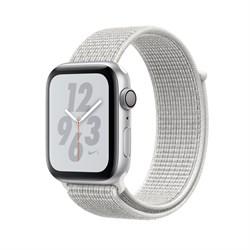 """Apple Watch Series 4 Nike+ 40mm """"Белый"""" (с белым нейлоновым ремешком) - копия - фото 24547"""