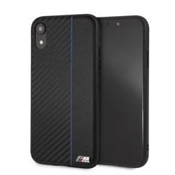"Чехол-Накладка BMW iPhone XR M-Collection Carbon inspiration Hard PU, ""Black"" (BMHCI61CAPNBK) - фото 24801"