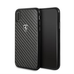 "Чехол-Накладка Ferrari iPhone X/XS Heritage Real carbon Hard ""Black"" (FEHCAHCPXBK) - фото 24927"