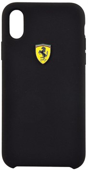 "Чехол-Накладка Ferrari iPhone X/XS On-Track SF Silicone case Hard TPU, ""Black"" (FESSIHCPXBK) - фото 24970"