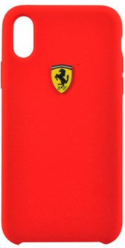 "Чехол-Накладка Ferrari iPhone X/XS On-Track SF Silicone case Hard TPU, ""Red"" (FESSIHCPXRE) - фото 24976"