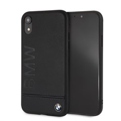 "Чехол-Накладка BMW для iPhone XR Signature Logo imprint Hard Leather, ""Black"" (BMHCI61LLSB) - фото 25014"