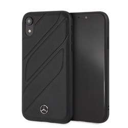 """Чехол-Накладка Mercedes iPhone XR New Organic I Hard Leather """"Black"""" (MEHCI61THLBK) - фото 25049"""