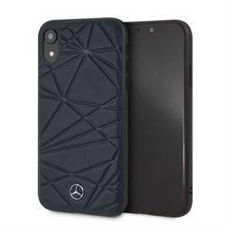 """Чехол-Накладка Mercedes iPhone XR Twister Hard Leather, """"Blue"""" (MEPERHCI61QGLNA) - фото 25092"""