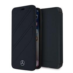"Чехол-Книжка Mercedes iPhone X/XS New Organic I Booktype Leather, ""Blue Abyss"" (MEFLBKPXTHLNA) - фото 25126"