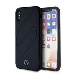 "Чехол-Накладка Mercedes iPhone X/XS New Organic I Hard Leather, ""Blue Abyss"" (MEHCPXTHLNA) - фото 25148"