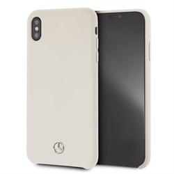 "Чехол-Накладка Mercedes iPhone XS Max Silicone line Hard, ""Beige"" (MEHCI65SILBE) - фото 25183"