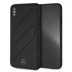 """Чехол-Накладка Mercedes iPhone XS Max New Organic I Hard Leather, """"Black"""" (MEHCI65THLBK) - фото 25197"""