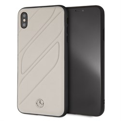 "Чехол-Накладка Mercedes iPhone XS Max New Organic I Hard Leather, ""Grey"" (MEHCI65THLGR) - фото 25211"