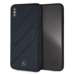 """Чехол-Накладка Mercedes iPhone XS Max New Organic I Hard Leather, """"Blue"""" (MEHCI65THLNA) - фото 25225"""