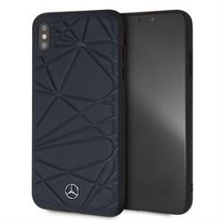 """Чехол-Накладка Mercedes iPhone XS Max Twister Hard Leather, """"Blue"""" (MEPERHCI65QGLNA) - фото 25253"""