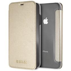 "Чехол-Книжка Guess iPhone XS Max Iridescent Booktype, ""Gold"" (GUFLBKI65IGLTGO) - фото 25305"