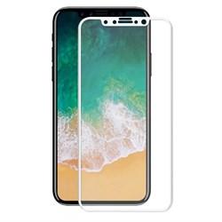 Защитное стекло Ainy 0,2 mm для iPhone X, Белый (защищает весь экран 3D) - фото 25401