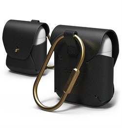 Чехол Elago для AirPods Genuine leather case (Чёрный) (EAPLE-BK) - фото 25520