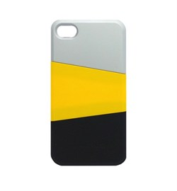 ПЛАСТИКОВЫЙ ЧЕХОЛ VERUS TRIPLEX CASE (GRAY/ORANGE/BLACK) ДЛЯ IPHONE 4 / 4S