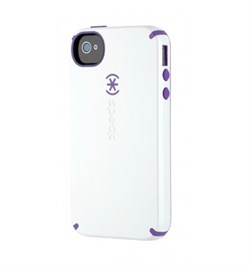 Чехол Speck CandyShell White/Purple для iPhone 4 / 4s