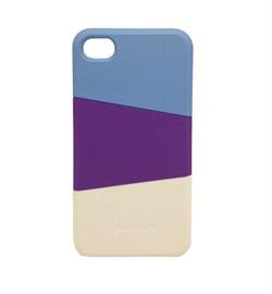 Пластиковый чехол Verus Triplex Case (blue/purple/white) для iphone 4 / 4s