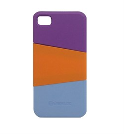 Пластиковый чехол Verus Triplex Case (purple/red/blue) для iphone 4 / 4s