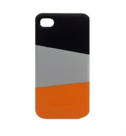 Пластиковый чехол Verus Triplex Case (black/gray/orange) для iphone 4 / 4s