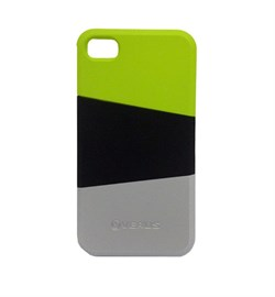 Пластиковый чехол Verus Triplex Case (green/black/gray) для iphone 4 / 4s