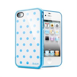 Чехол SGP Linear Biskitt Series Case Blue iPhone 4 / 4S