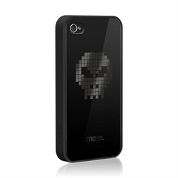 "Чехол More Cubic Black Exclusive skull ""Череп"" для iPhone 4 4s"