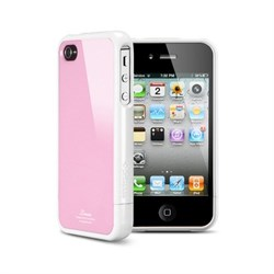 Пластиковый чехол SGP Linear Color Series Case Pink/White для iPhone 4/4s