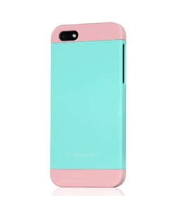 Чехол Phone Add Blue/Pink Plastic Case для iPhone 5