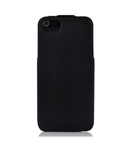 Чехол BASEUS PU Leather Twill Top Flip Open Case Black для iPhone 5