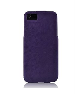 Чехол BASEUS PU Leather Twill Top Flip Open Case Purple для iPhone 5