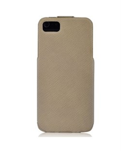 Чехол BASEUS PU Leather Twill Top Flip Open Case Beige для iPhone 5