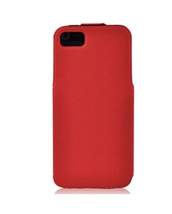 Чехол BASEUS PU Leather Twill Top Flip Open Case Red для iPhone 5