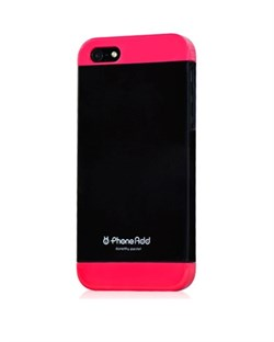 Чехол Phone Add Black/Pink Plastic Case для iPhone 5