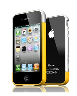 Бампер SGP Case Linear EX Meteor Reventon Yellow для iPhone 4/4S