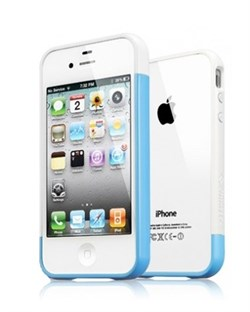 Бампер SGP Case Linear EX Meteor Tender Blue для iPhone 4/4S