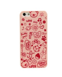 Чехол Fashion Little Witch Series Pink для iPhone 5
