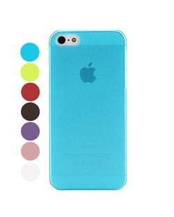 Чехол Разноцветный Прозрачный Матовый Ультратонкий для iPhone 5, Твердый
