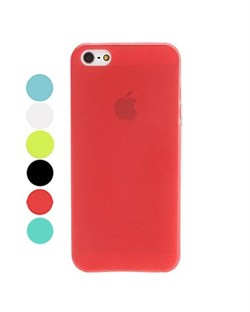 Чехол Разноцветный Прозрачный Матовый Ультратонкий для iPhone 5, Мягкий