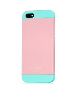 Чехол Phone Add Pink/Blue Plastic Case для iPhone 5